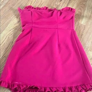 Fuchsia Strapless French Connection dress
